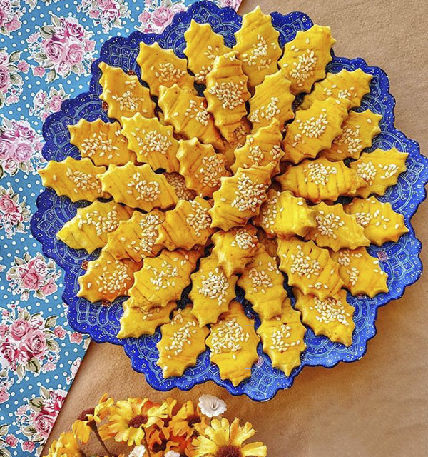 طرز تهیه نان چای قزوین شیرینی خوشمزه با عکس