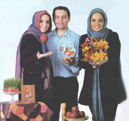 نرگس محمدی به همراه برادر و خواهرش