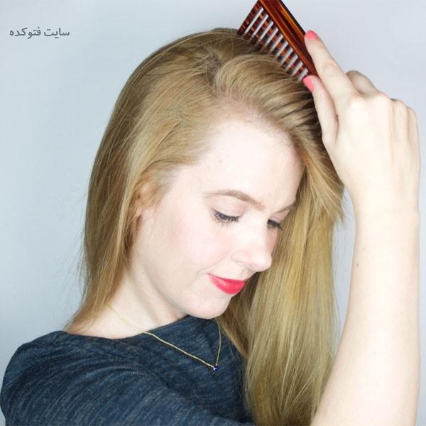 نرم کردن موهای خشک