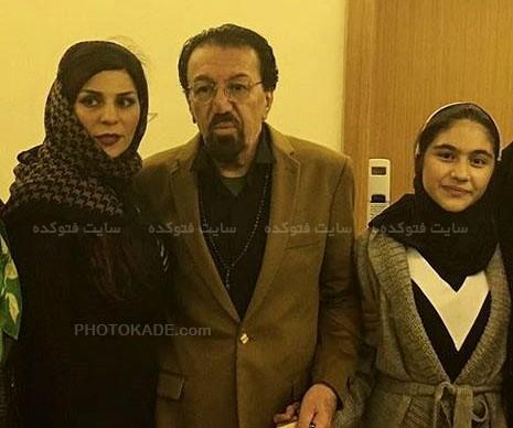 عکس ناصر چشم آذر و همسرش شیرین احمدلو و دخترش