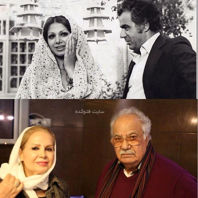 ناصر ملک مطیعی و بازیگر زن قبل و بعد از انقلاب