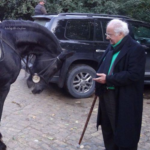 احترام اسب به ناصر ملک مطیعی
