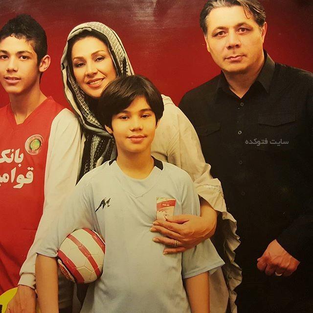 همسر نسرین مقانلو + پسرانش با خانواده