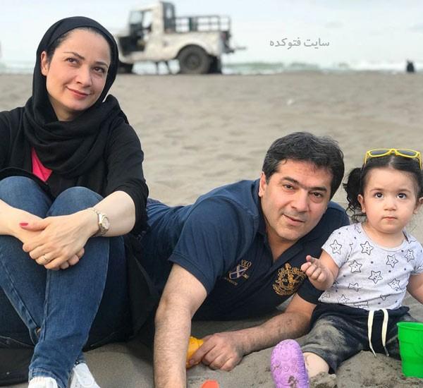 عکس های نسرین نصرتی در کنار همسر و دخترش