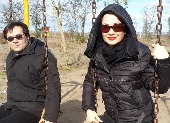 عکس نسرین نصرتی و همسرش سام پاک پیکار + بیوگرافی