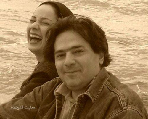 نسرین نصرتی و همسرش سام پاک پیکار