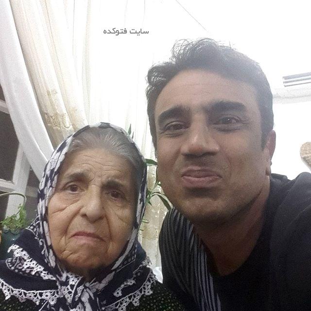 عکس نصرالله رادش و مادرش