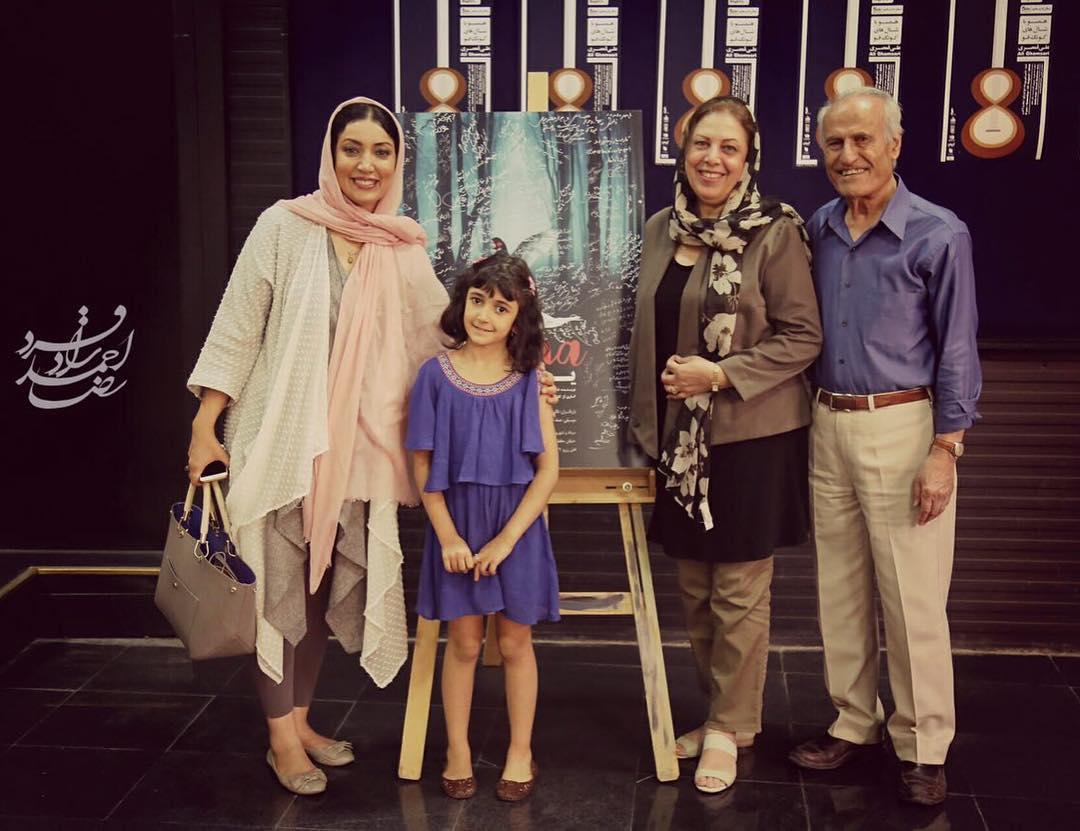 عکس پدر و مادر و دخترنگار عابدی