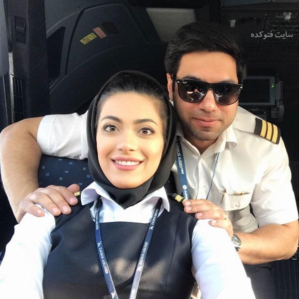 عکس های نشاط جهانداری و همسرش خلبان شاهپسندی