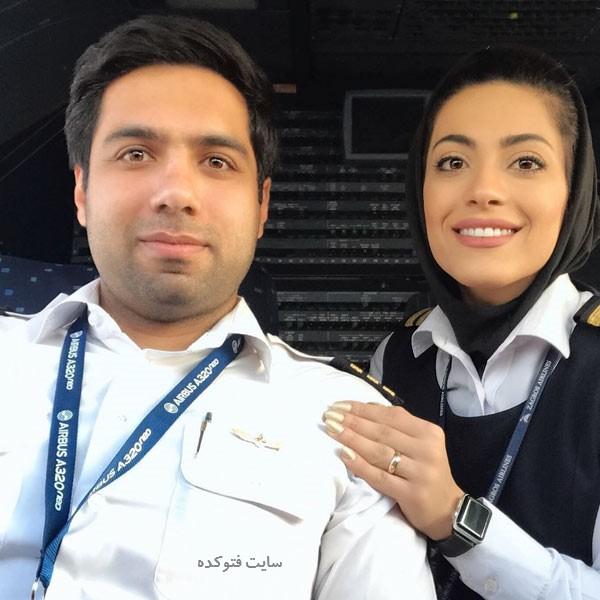 نشاط جهانداری خلبان کیست + زندگینامه
