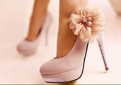 مدل کفش پاشنه بلند مجلسی گلدار2014