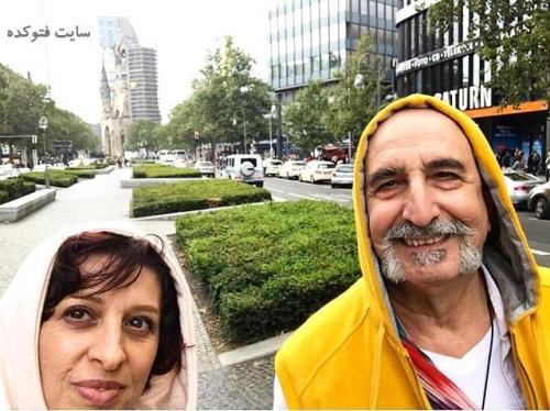 عکس جدید فرهاد آئیش و همسرش