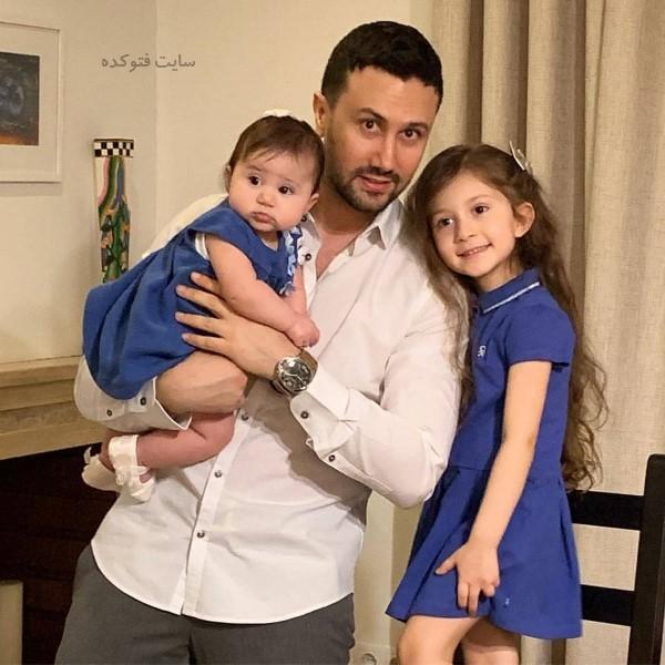 جیدترین عکس لو رفته بازیگران ایرانی شاهرخ استخری و دخترانش