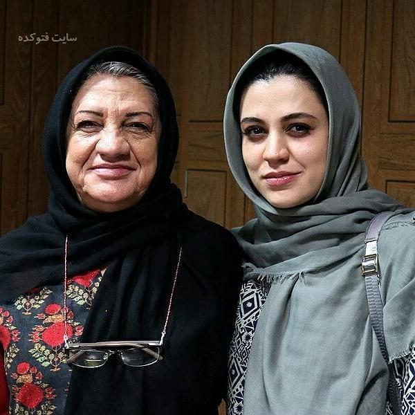 جیدترین عکس لو رفته بازیگران ایرانی ناهید مسلمی و دخترش
