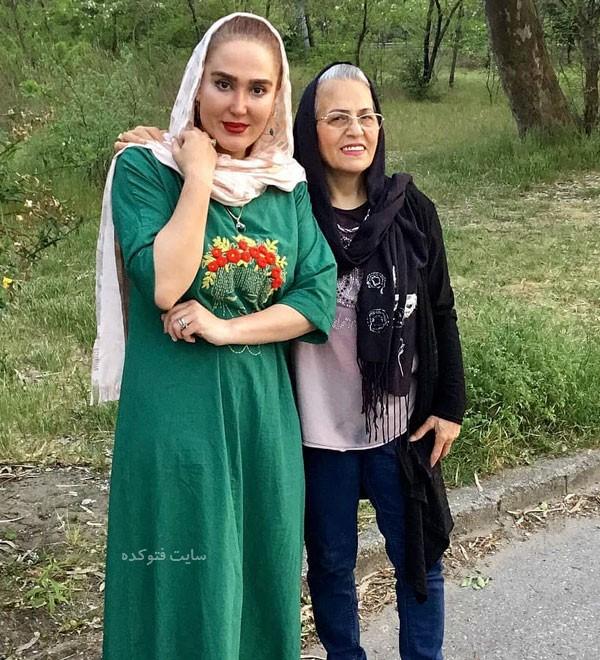 عکس خانوادگی بازیگران زهره فکور صبور و مادرش + بیوگرافی