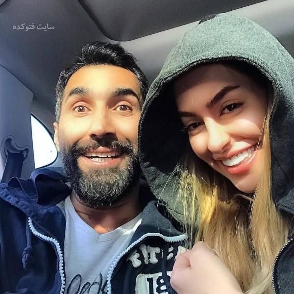 جیدترین عکس لو رفته بازیگران ایرانی سمانه پاکدل و همسرش هادی کاظمی