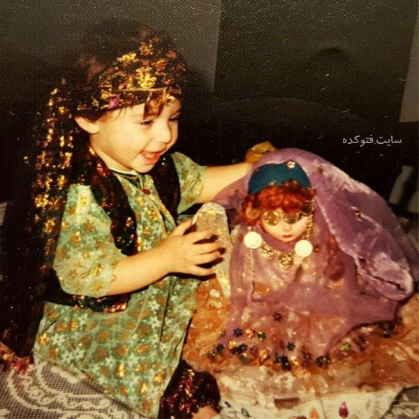 عکس کودکی Niusha Zeighami بازیگر زن