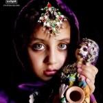 عکس دختری با زیباترین چشم جهان