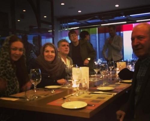 نیکی کریمی با پدر و مادرش در ترکیه , عکس نیکی کریمی در جشنواره ترکیه , عکس پدر و مادر نیکی کریمی , عکس نیکی کریمی و پدر و مادرش , عکس خانواده نیکی کریمی