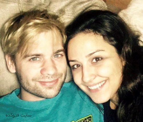 عکس نینا مقدم و همسرش