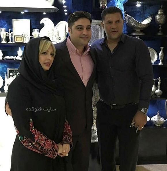 نیوشا ضیغمی و همسرش در کنار علی دایی