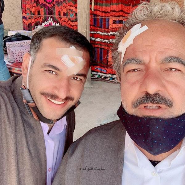 عکس یوسف کرمی (آقا یوسف) در اسامی بازیگران سریال نون خ 3