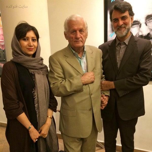 نوش آفرین طوسی در کنار استاد اکبر اعلمی