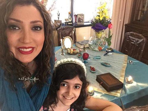 عکس نگار عابدی و دخترش در عید نوروز 96
