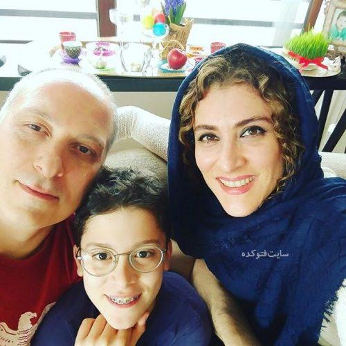 عکس ویشگاه آسایش در کنار همسر و پسر در عید نوروز 96