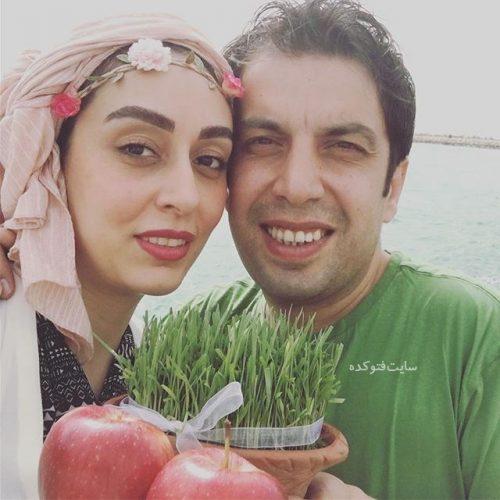 عکس عباس جمشیدی و همسرش فریبا امینیان در عید نوروز 96