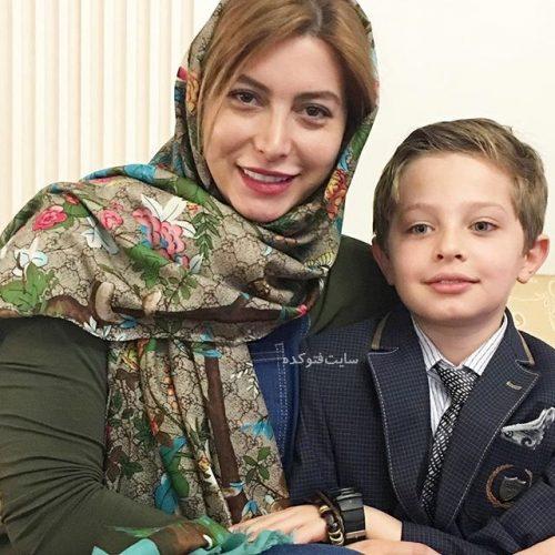 عکس فریبا نادری و پسرش در عید نوروز 96