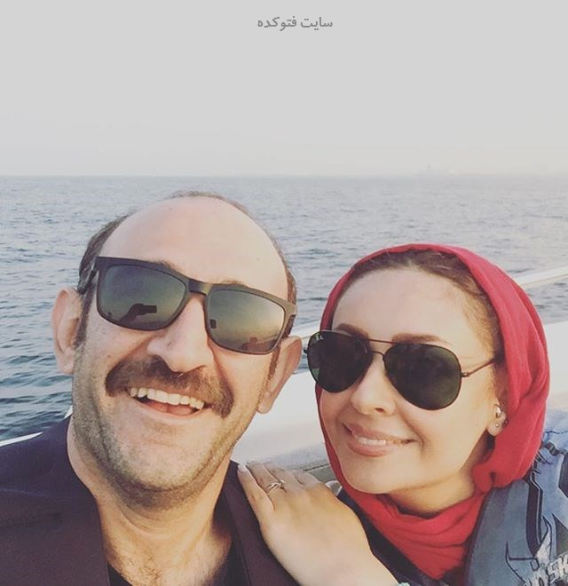 عکس هدایت هاشمی و همسر دومش زمستان 96
