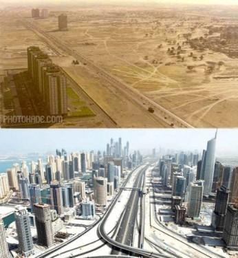 عکس های قدیمی و جدید شهرهای جهان