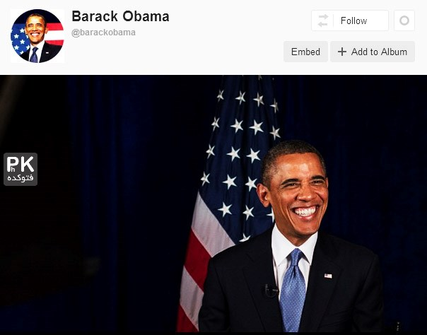 عکس هجوم مردم به اینستاگرام اوباما,حمله مردم به اینستاگرام باراک اوباما,آدرس ایسنتاگرام اوباما,لشکر کشی مردم به صفحه اوبا رئیس جمهور آمریکا,حمله مردم ایران به آمریکا