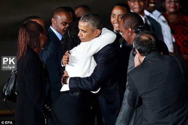 عکس های دیدار اوباما با خواهر ناتنی اش در کنیا,عکس خواهر باراک اوباما در کنیا,عکس اوباما در دیدار با خانواده اش در کنیا,عکس مادربزرگ و پدر بزرگ باراک اوبما