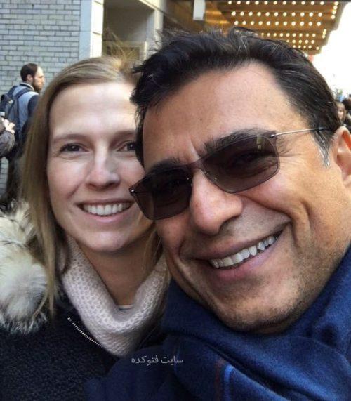 عکس امید کردستانی و همسر دومش جیزل هیسکاک (Gisel Hiscock) + زندگینامه
