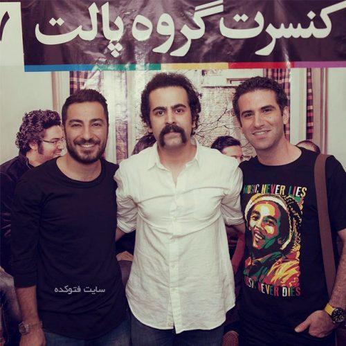 امید نعمتی در کنار هوتن شکیبا و نوید محمدزاده