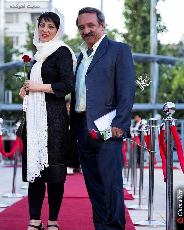 عکس علی اوسیوند و همسرش حمیرا ریاضی