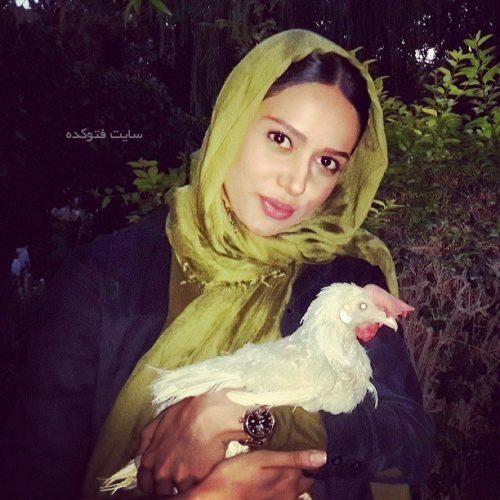پریناز ایزدیار و حیوان خانگی اش