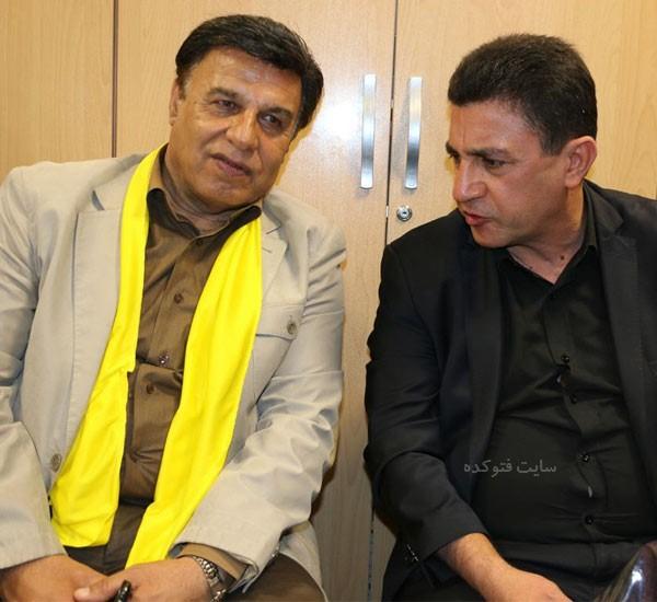 پرویز مظلومی در کنار امیر قلعه نویی + بیوگرافی