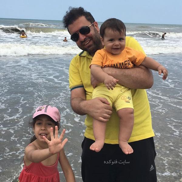 عکس های پیام عزیزی و فرزندانش + بیوگرافی