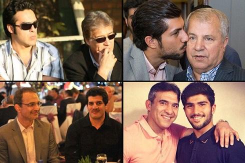 پدران و فرزندان ورزشکار ایرانی , عکس های پدران و فرزندان ورزشکار ایرانی , عکس فرزندان و پدرانم ورزشکار مشهور ایرانی , عکس ورزشکاران پدر و پسر ایرانی