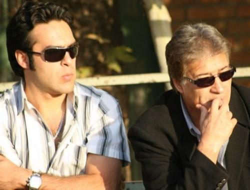 عکس ناصر حجازی و پسرش آتیلا