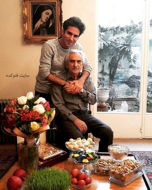 عکس هوتن شکیبا و پدرش