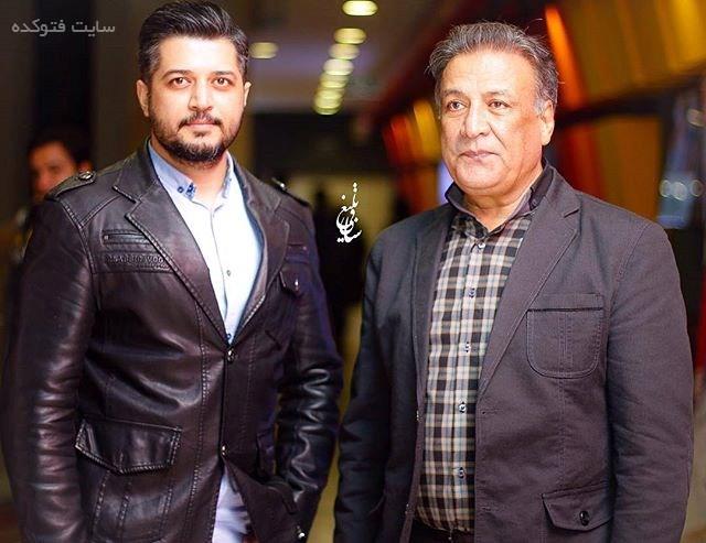 عکس پندار اکبری و پدرش عبدالرضا اکبری