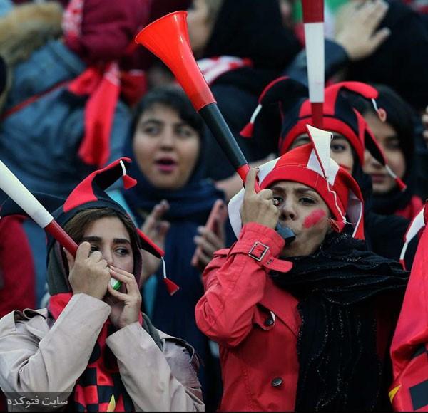تماشاگران دختر بازی پرسپولیس و کاشیما