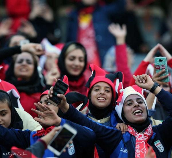 تماشاگران دختر بازی پرسپولیس و کاشیما در استادیوم آزادی