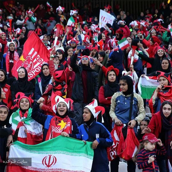 عکس های تماشاگران دختر بازی پرسپولیس و کاشیما در استادیوم آزادی