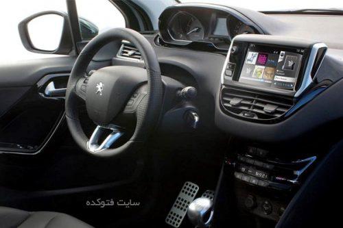 نمای داخلی پژو 208 ایرن خودرو