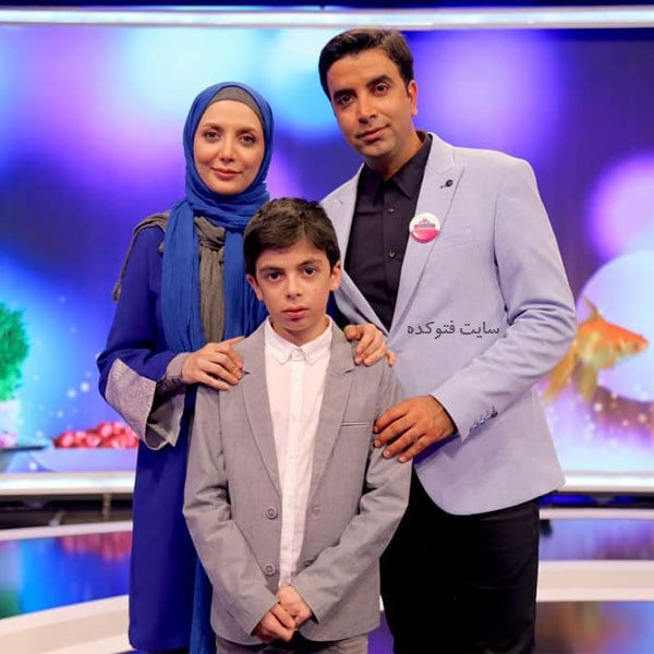 عکس خانوادگی رویا میرعلمی Roya Mirelmi با همسرش حسین کیانی